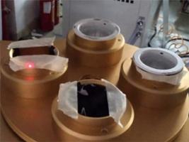 LED灯饰行业专业四工位旋转激光打标机