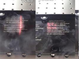 金属氧化铝电镀层激光打标