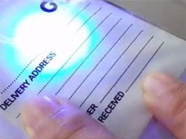 紫外激光塑料标签打标